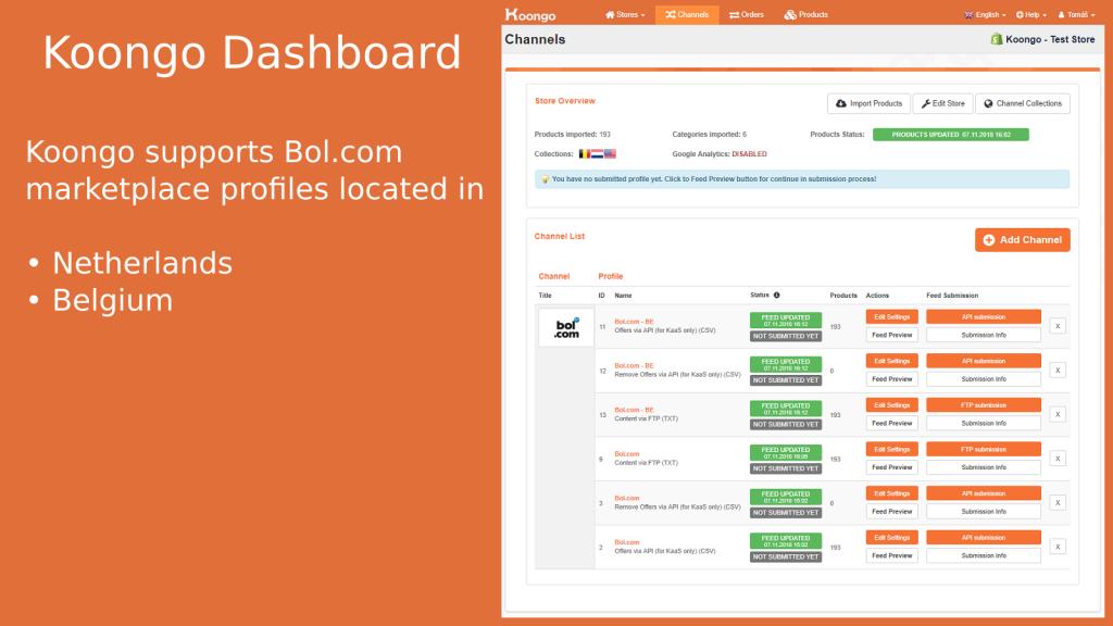 Marktplaats en Bol.com Shopify app