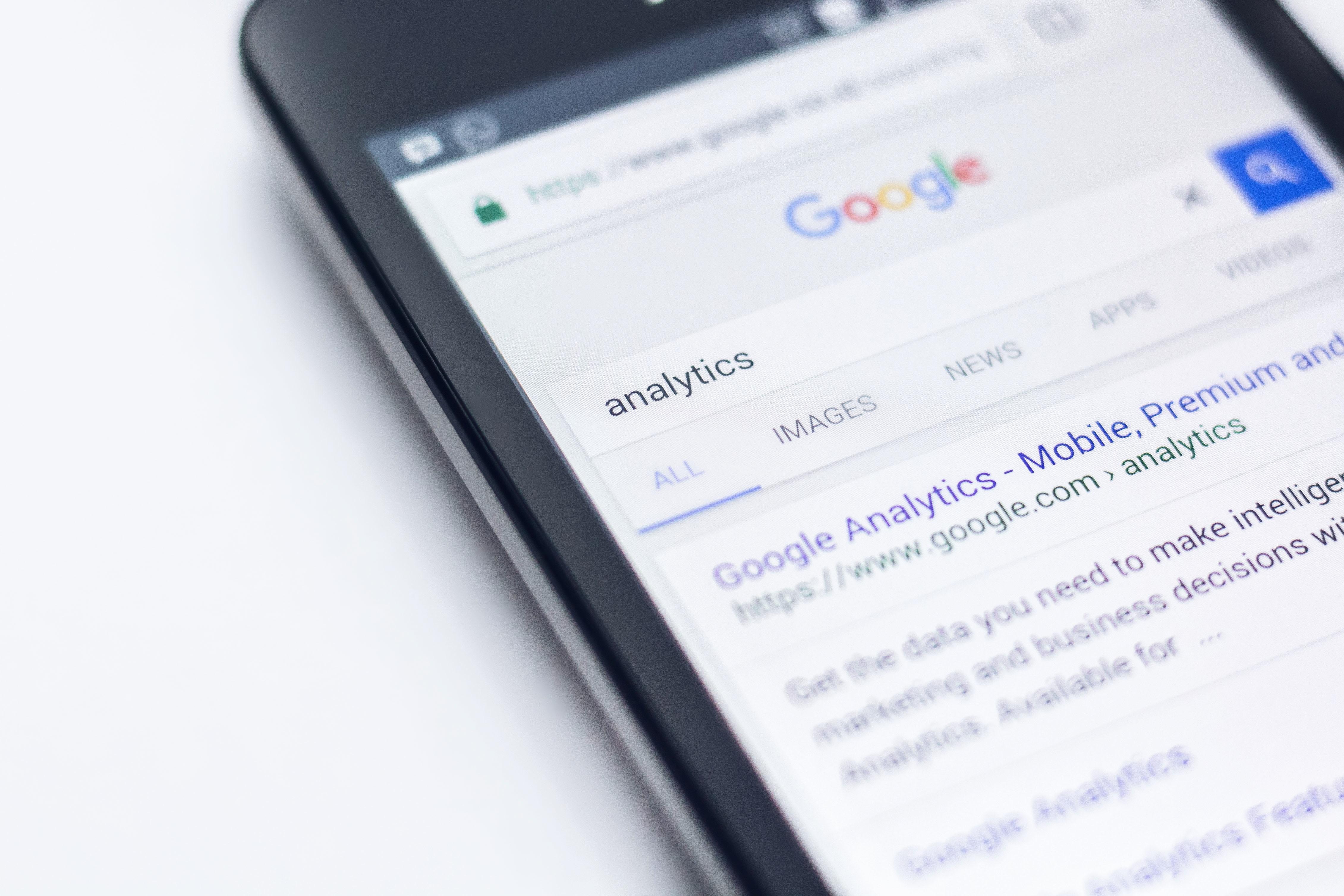 Smartphone google in beeld